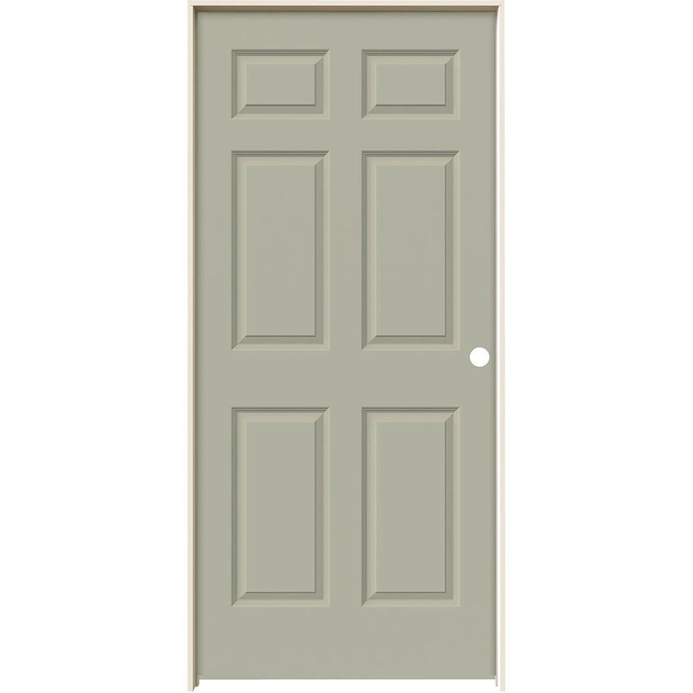 36 in. x 80 in. Colonist Desert Sand Painted Left-Hand Smooth