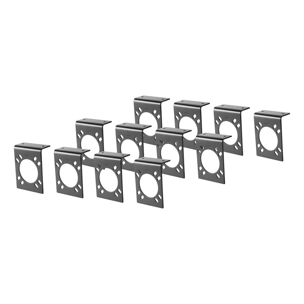 CURT Connector Mounting Brackets for 7-Way RV Blade (Black, 12-Pack)