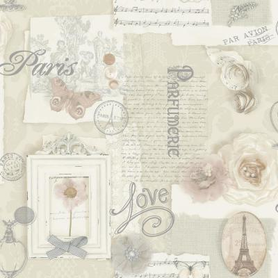 Felicity Natural White Un-Pasted Wallpaper