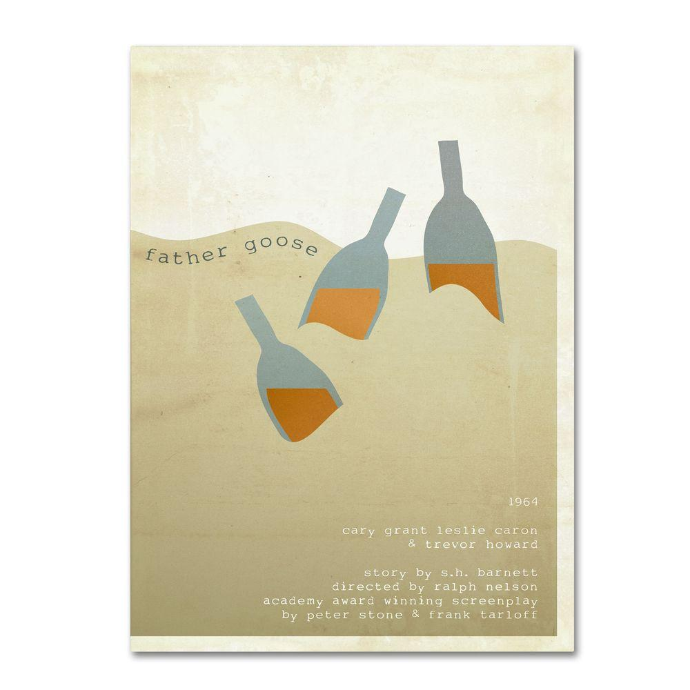Trademark Fine Art 14 in. x 19 in. Father Goose Canvas Art