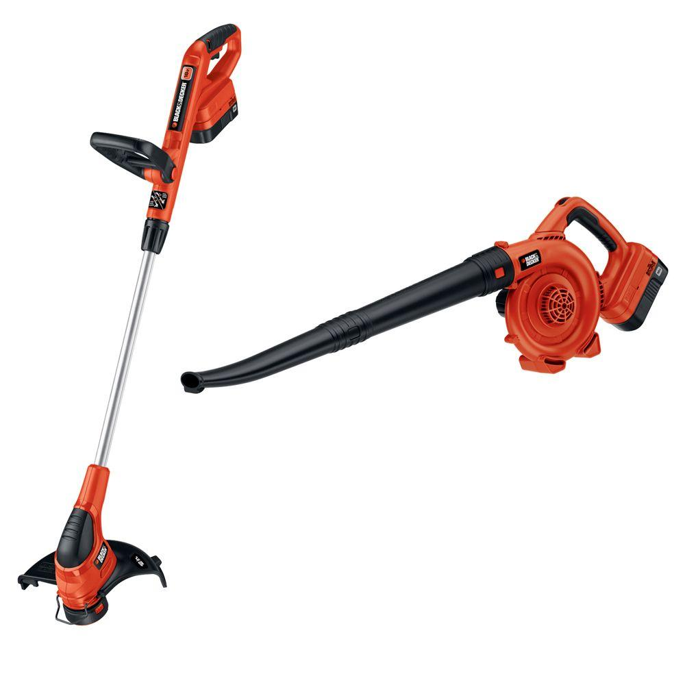 BLACKDECKER BLACK+DECKER 18-Volt NiCad Trimmer and Sweeper Combo Kit