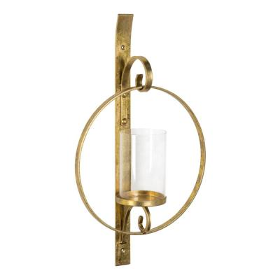 Doria Gold Metal Candle Sconce