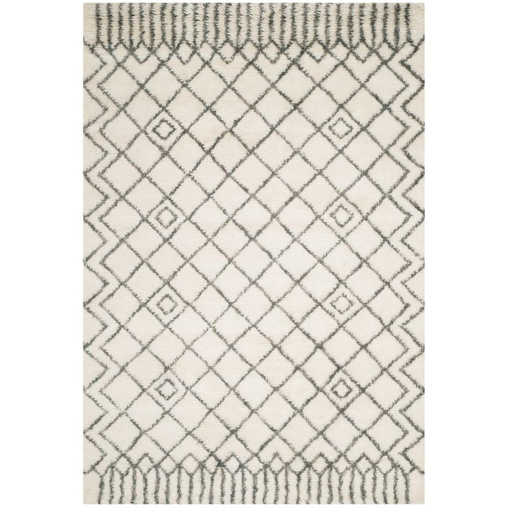 Casablanca Ivory/Grey 6 ft. x 9 ft. Area Rug