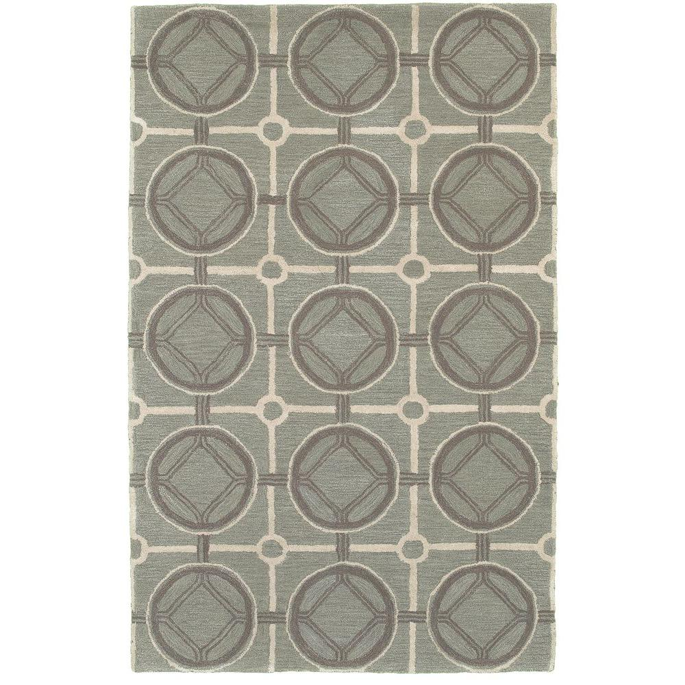 LR Resources Luxor Geometric Smoke Blue Rectangle 3 ft. 6 in. x 5 ft. 6 in. Plush Indoor Area Rug