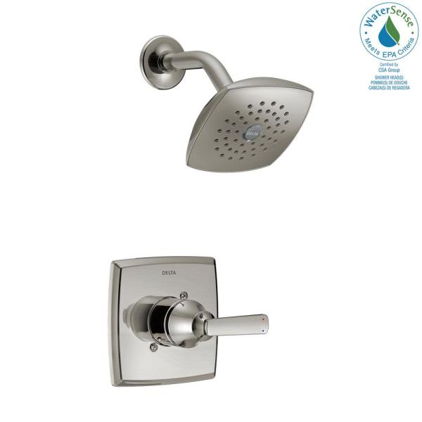 Delta Ashlyn 1 Handle Pressure Balance Shower Faucet Trim Kit In Stainless Valve Not Included T14264 Ss The Home Depot