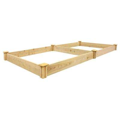 96 in. L x 48 in. W x 5.5 in. H Cedar Raised Garden Bed