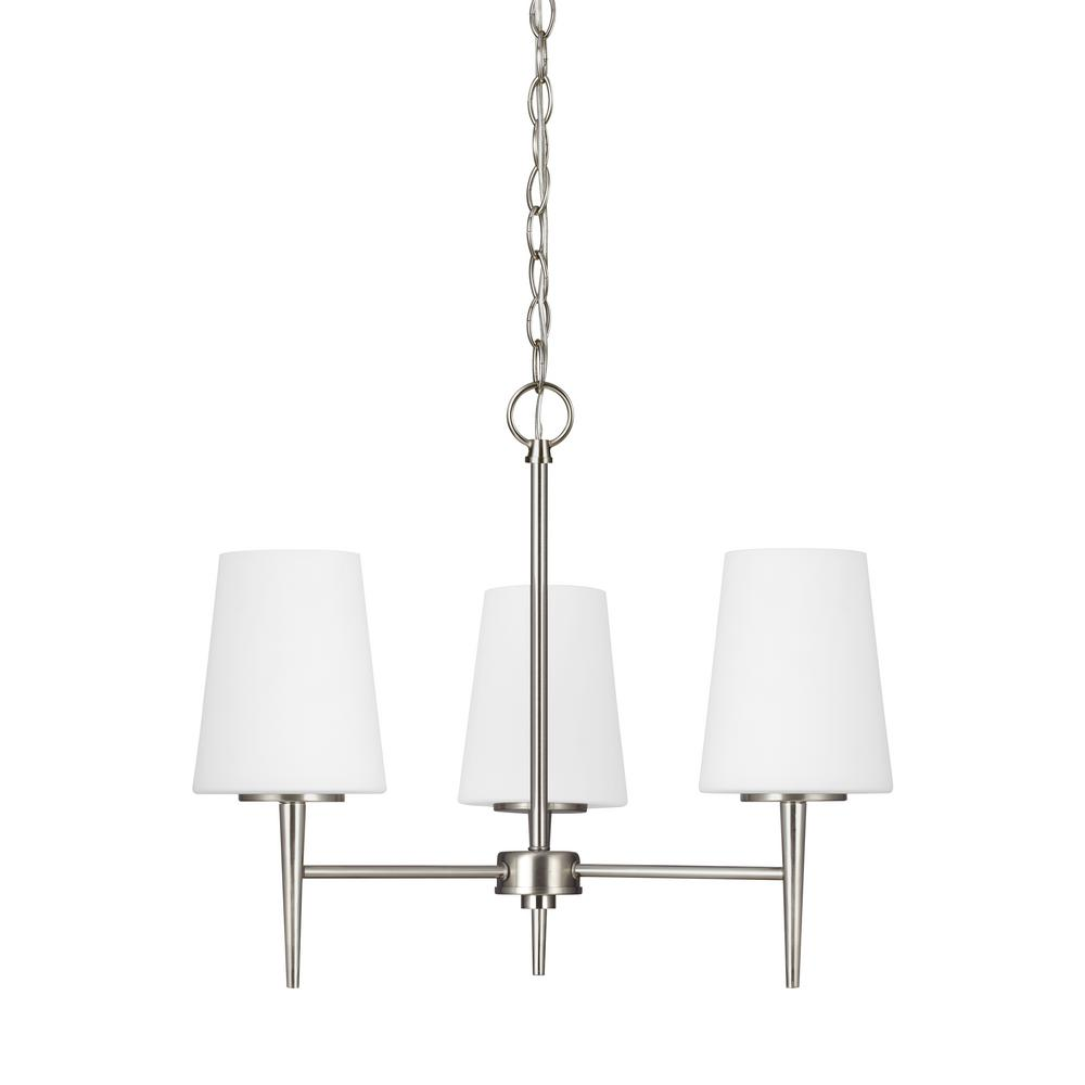 Driscoll 3-Light Brushed Nickel Chandelier