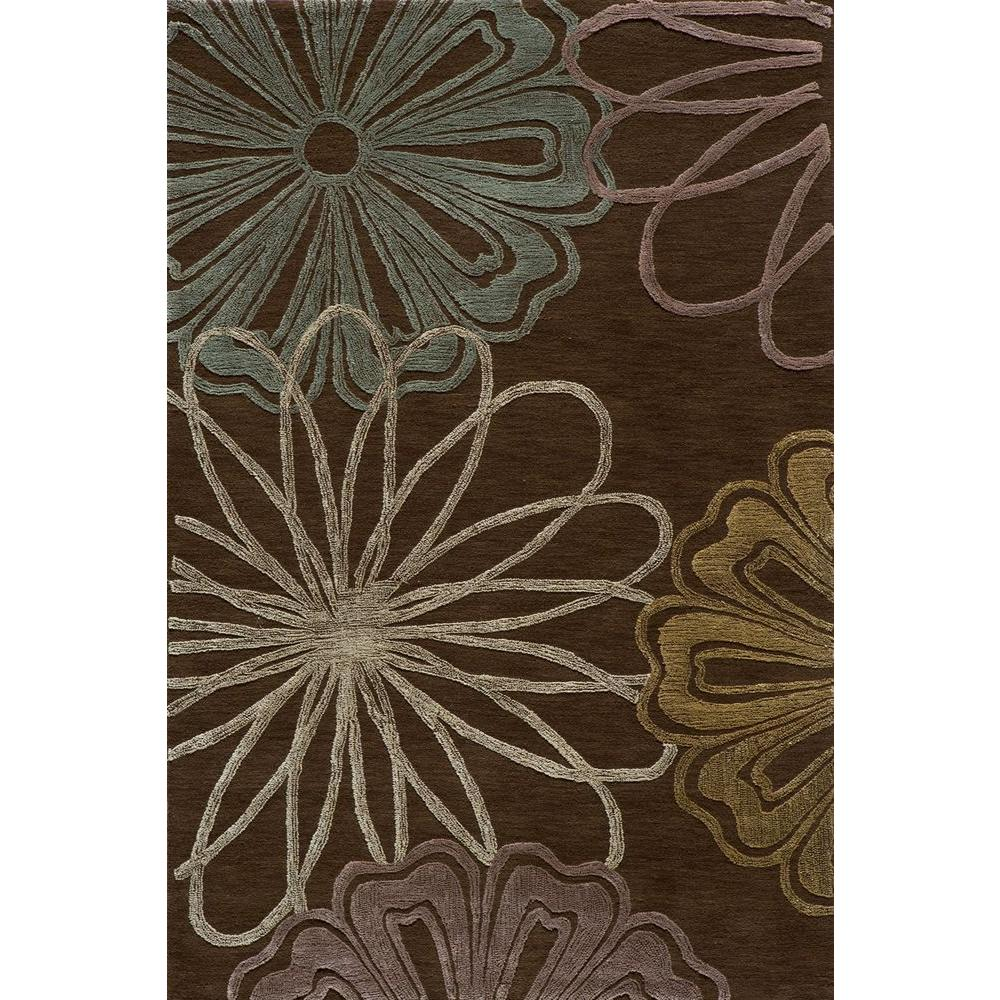 Momeni Passion Brown 3 ft. 6 in. x 5 ft. 6 in. Indoor Area Rug