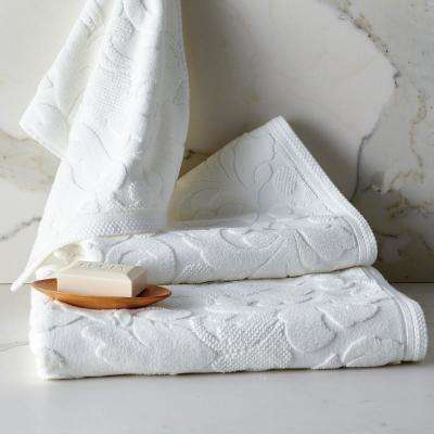 Fleur Supima Cotton Single Bath Towel in White