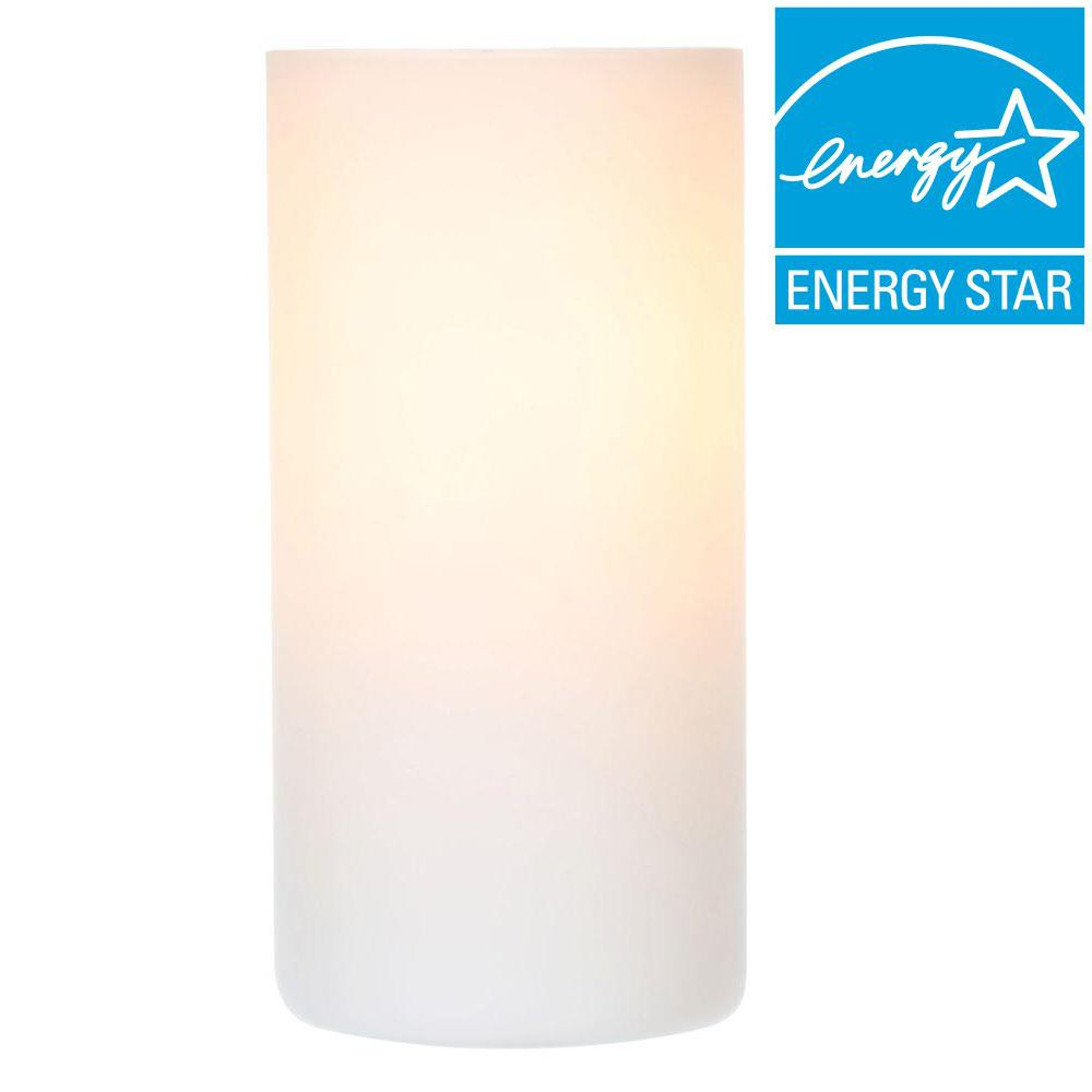 White Glass Table Lamp 20134A   The Home Depot