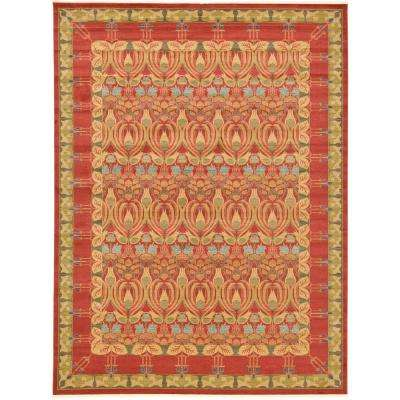 Red 12 X 16 Area Rugs Rugs The Home Depot