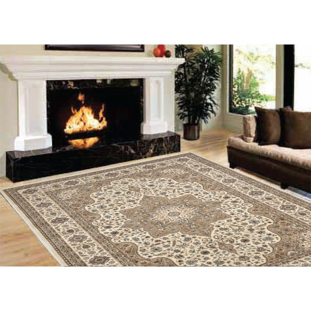 Home Dynamix Majestic Beige 9 Ft 2 In X 12 5 Area Rug 10 H1128a 150 The Depot
