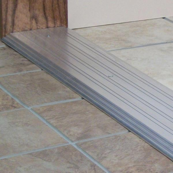 M D Building Products Fluted Top Fixed 6 In X 83 In Aluminum Heavy Duty Commercial Threshold 99034083000 The Home Depot