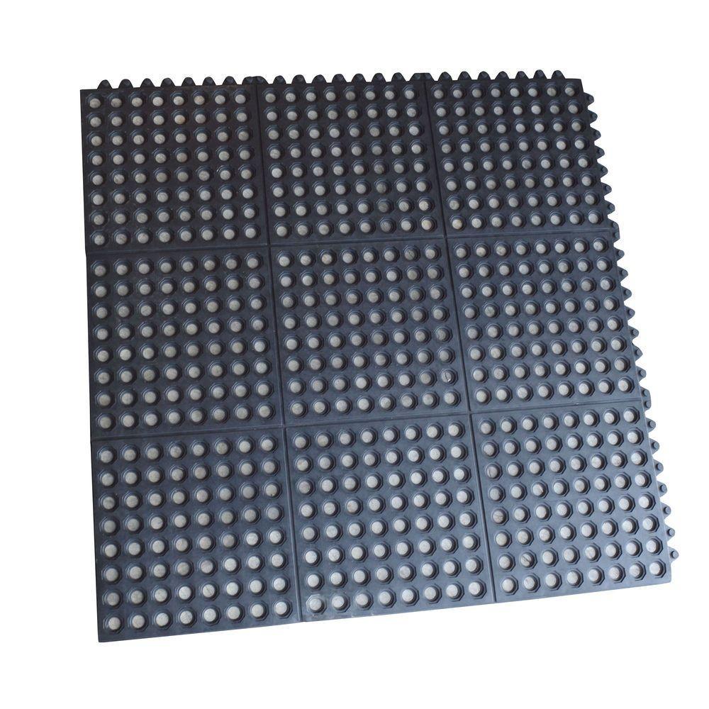 3 Ft. X 3 Ft. Interlocking Rubber Mats (4 Pack)