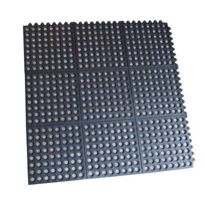 3 ft. x 3 ft. Interlocking Rubber Mats (4-Pack)