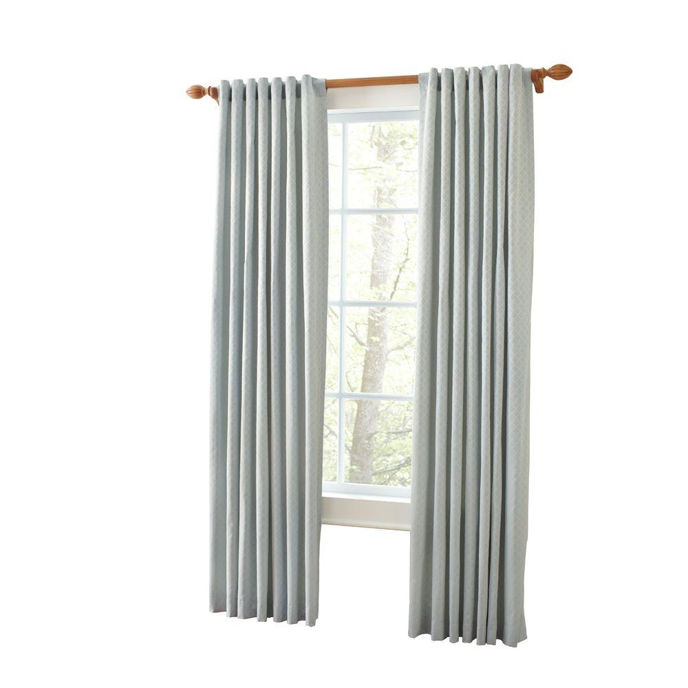 Martha Stewart Living Faded Ink Marrakesh Screen Back Tab Curtain (Price Varies by Size)