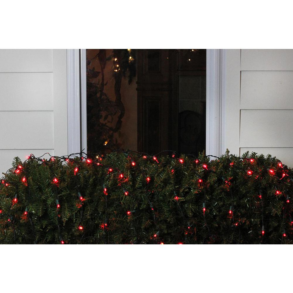 Red Led Net Style Christmas Lights