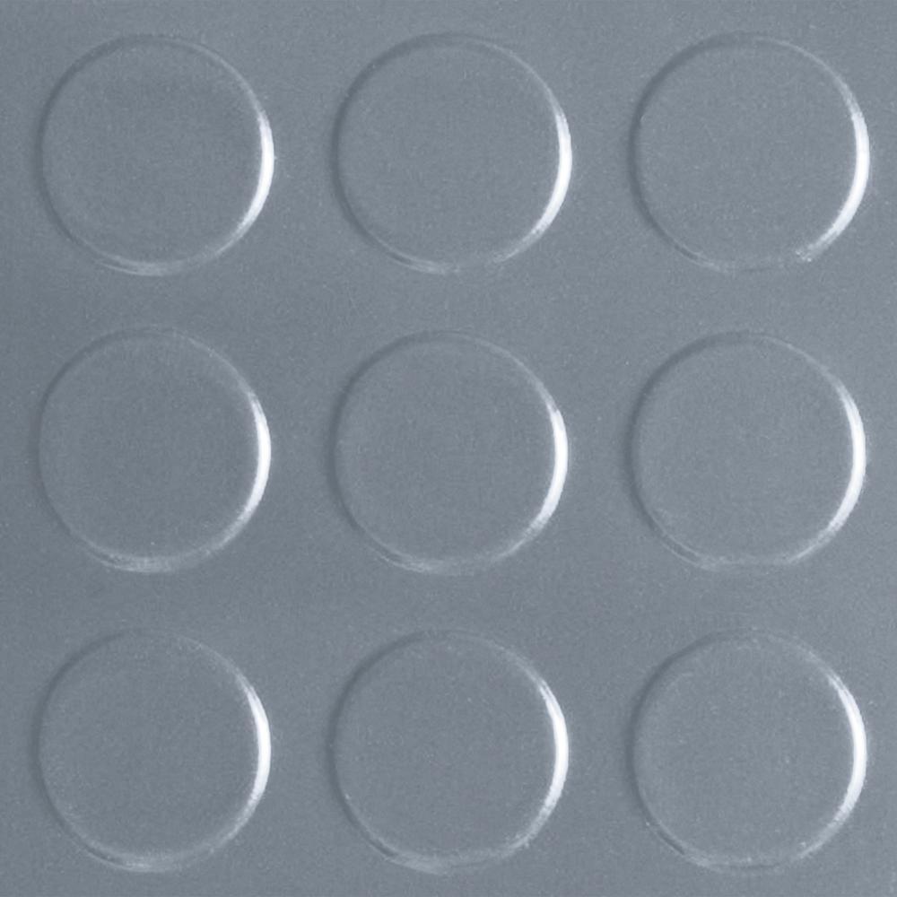 Coin 10 ft. W x 44 ft. L Grey Commercial Grade Vinyl Flooring