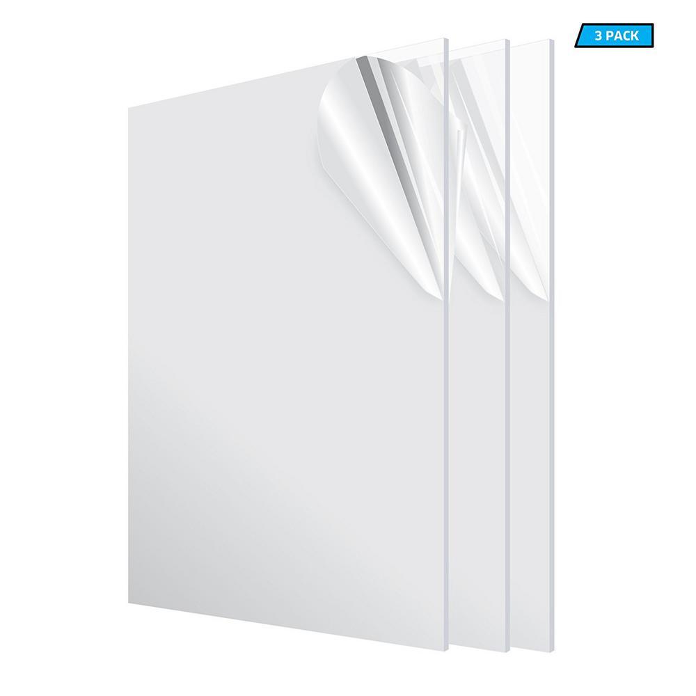24 in. x 48 in. x 1/8 in. Clear Plexiglass Acrylic Sheet (3-Pack)