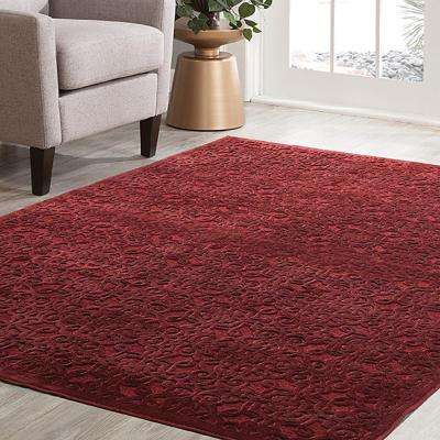 Napa Kilbourne Red 7 ft. 10 in. x 11 ft. 2 in. Area Rug