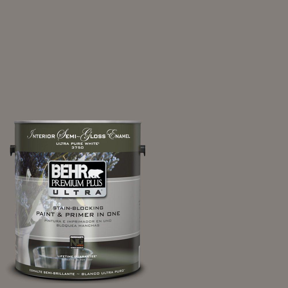 BEHR Premium Plus Ultra 1 Gal. #UL260-3 Suede Gray Semi