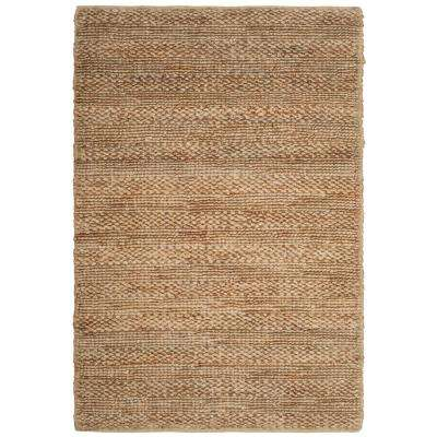 Natural Fiber Tan 3 ft. x 5 ft. Indoor Area Rug
