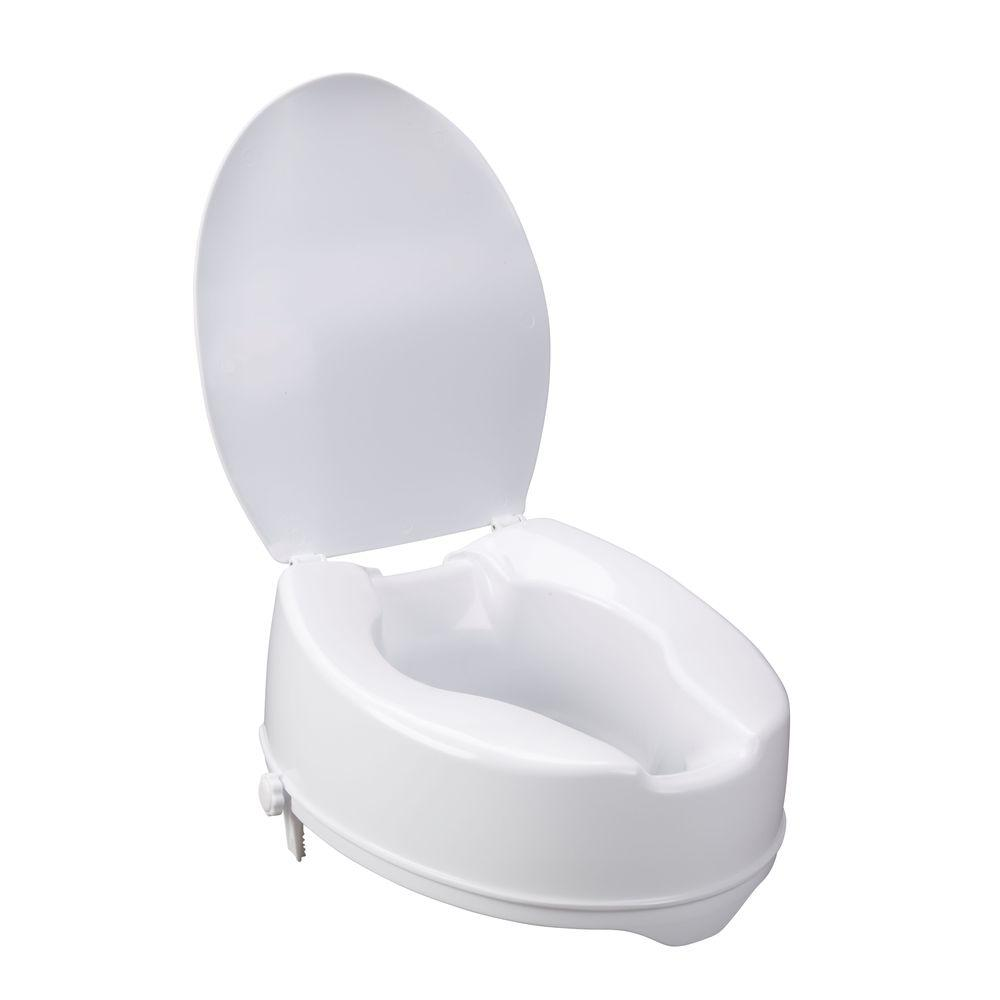 Drive Raised Toilet Seat With Arms.Drive Raised Toilet Seat With Lock And Lid 12067 The Home Depot