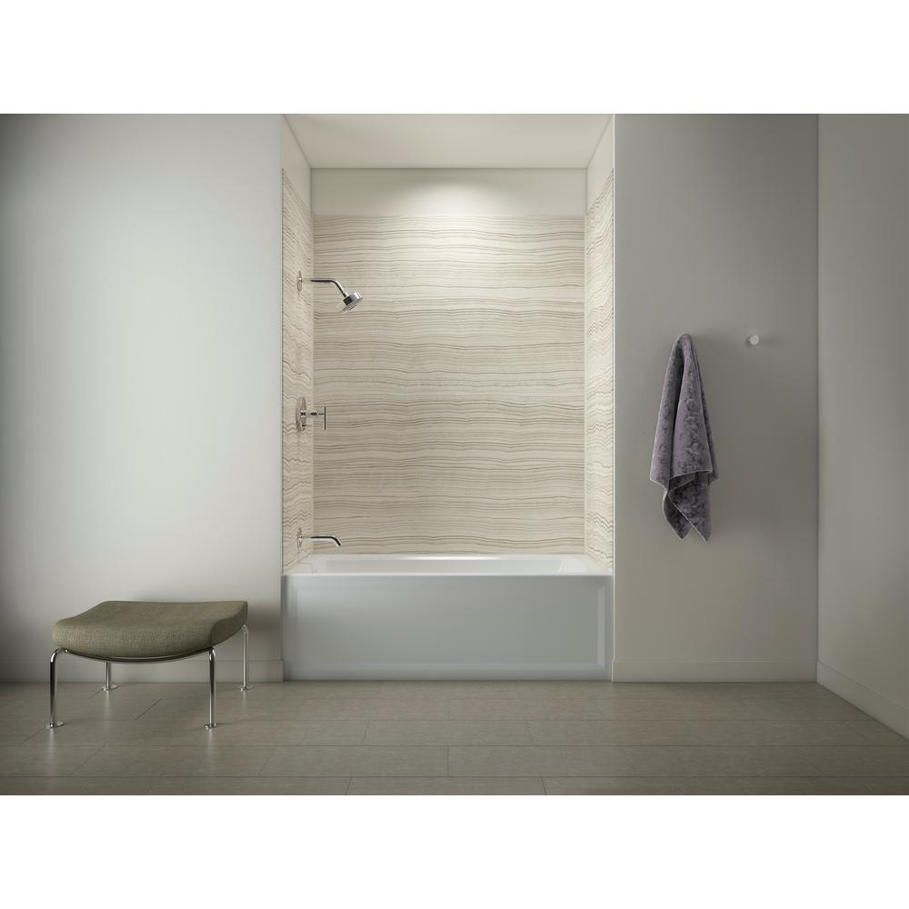 Glueup Shower Walls Surrounds Showers The Home Depot - Alternative to tiles in shower cubicle
