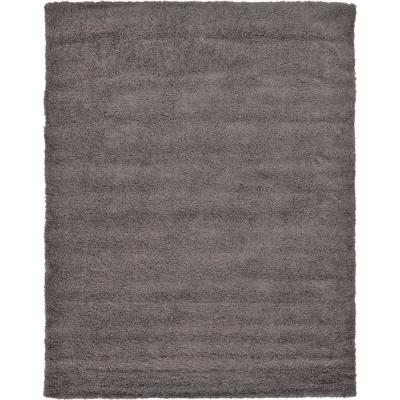 Solid Shag Graphite Gray 9 ft. x 12 ft. Area Rug