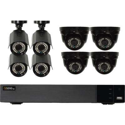 16-Channel 1080p Indoor/Outdoor Surveillance 2TB DVR System with (4) 1080p Bullet Cameras and (4) 1080p Dome Cameras