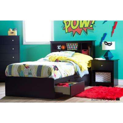 Vito Twin-Size Bed Frame in Pure Black