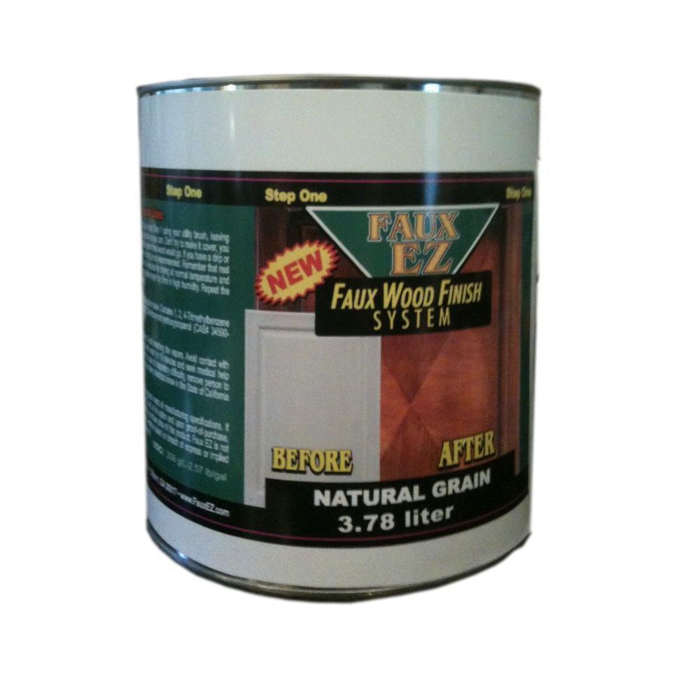 Faux EZ Natural Wood Grain Cabinet Paint Natural Grain Faux Wood Cabinet  Refinishing Step 1 Base