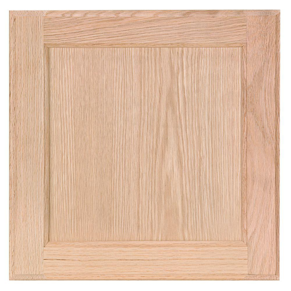 In cabinet door sample in unfinished oak Home depot kitchen cabinet doors