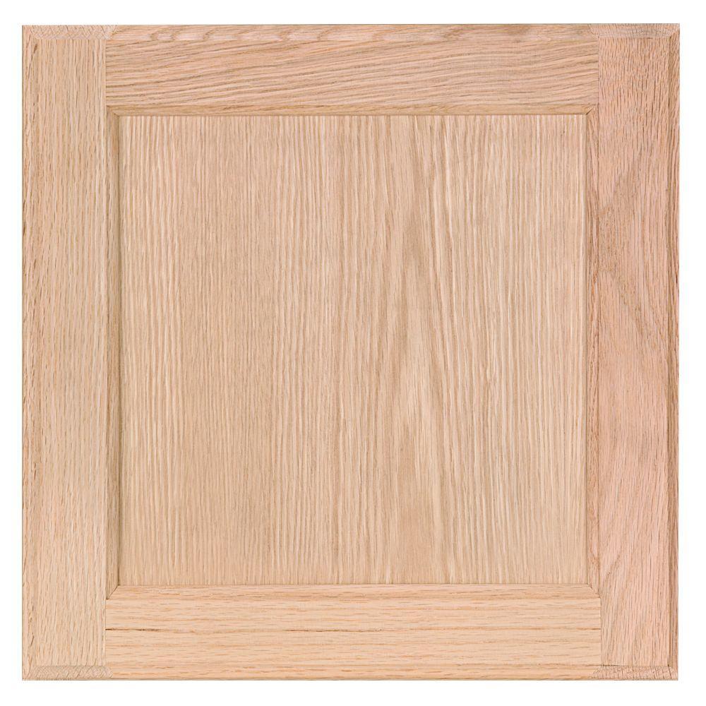 12.75x12.75 in. Cabinet Door Sample in Unfinished Oak
