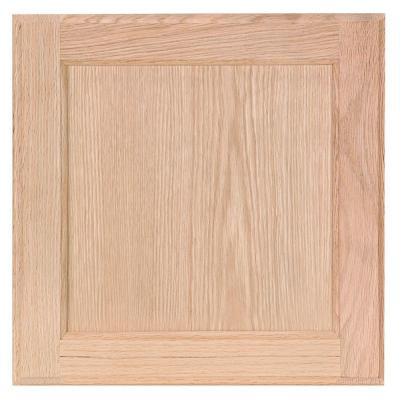 Hampton 12.75 in. W x 12.75 in. H Cabinet Door Sample in Unfinished Beech