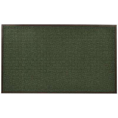 Portrait Green 36 in. x 120 in. Rubber-Backed Entrance Mat
