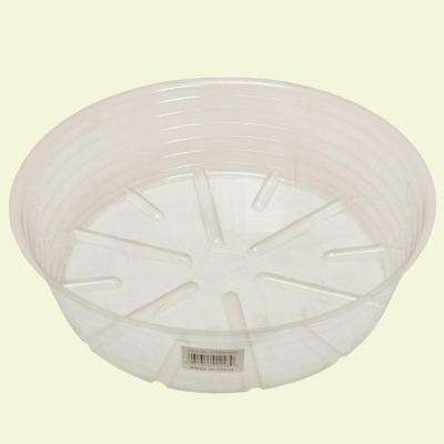 11 in. Deep Clear Plastic Saucer