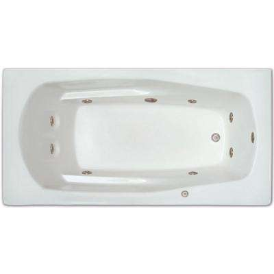 5.5 ft. Left Drain Drop-in Rectangular Whirlpool Bathtub in White