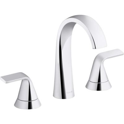 Cursiva 8 in. Widespread 2-Handle Bathroom Faucet in Polished Chrome