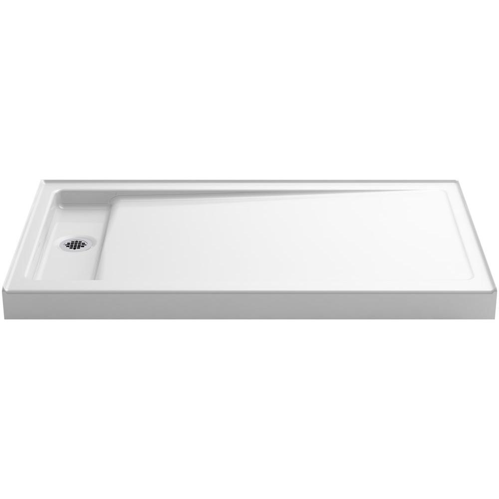 KOHLER KOHLER Bellwether 60 in. x 34 in. Single Threshold Shower Base in White