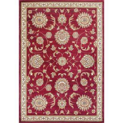 Clyde Red 8 ft. Round Area Rug