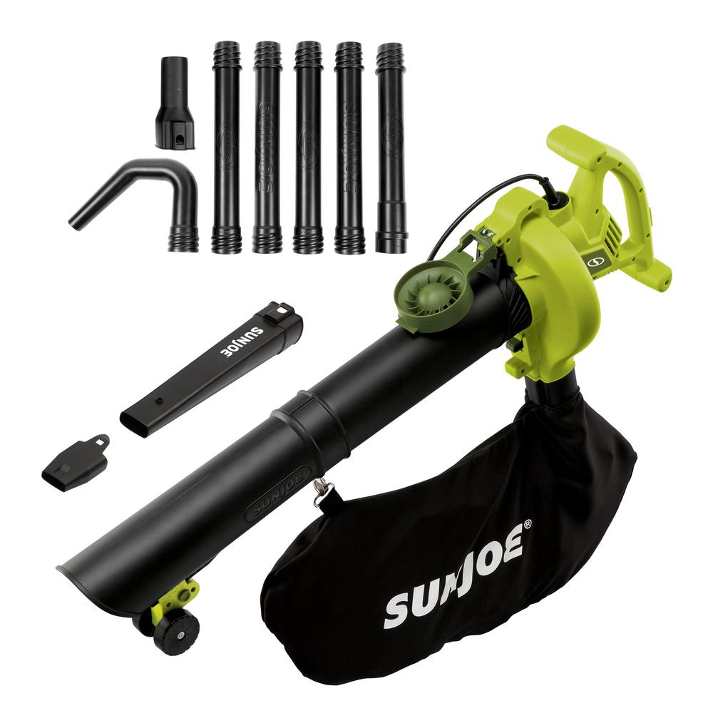 Sun Joe 250 MPH 440 CFM 14 Amp Electric Handheld Blower/Vacuum/Mulcher with Gutter Attachment (Factory Refurbished)