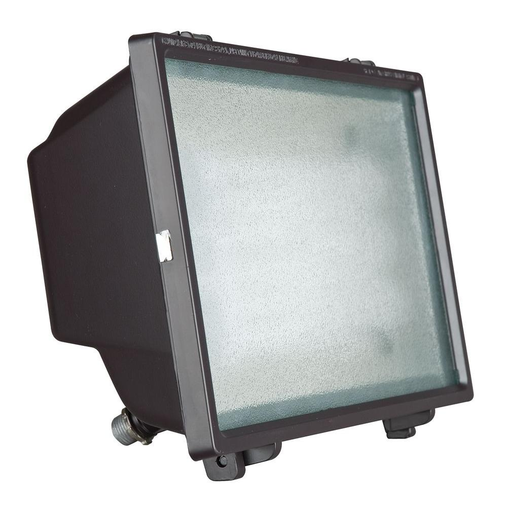 Luminance Bronze Outdoor Fluorescent Flood Fixture-F7837