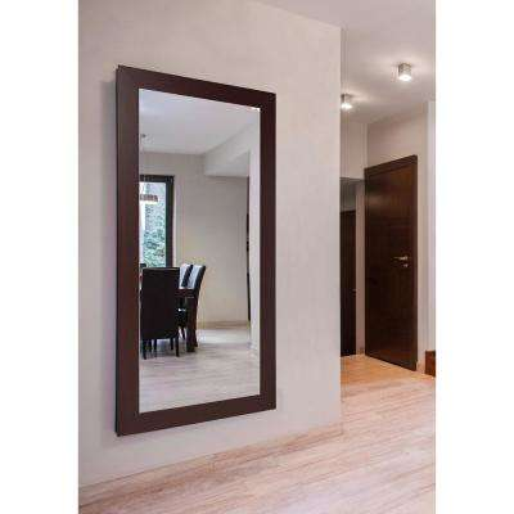 64 in. x 35 in. Extra Large Dark Mahogany Vanity Mirror