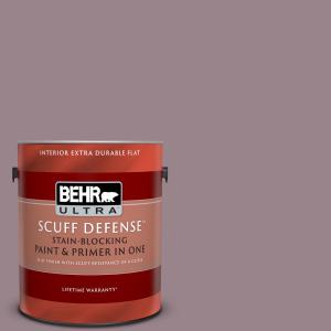 Behr Ultra 1 Gal Home Decorators Collection Hdc Cl 05 Orchard Plum Extra Durable Flat Interior Paint Primer 172401 The Home Depot