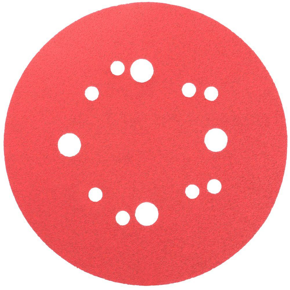5 in. 100-Grit Universal Hole Random Orbital Sanding Disc with Hook