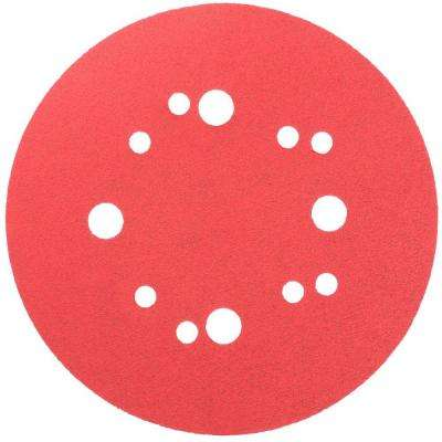 5 in. 100-Grit Universal Hole Random Orbital Sanding Disc with Hook and Lock Backing (50-Pack)