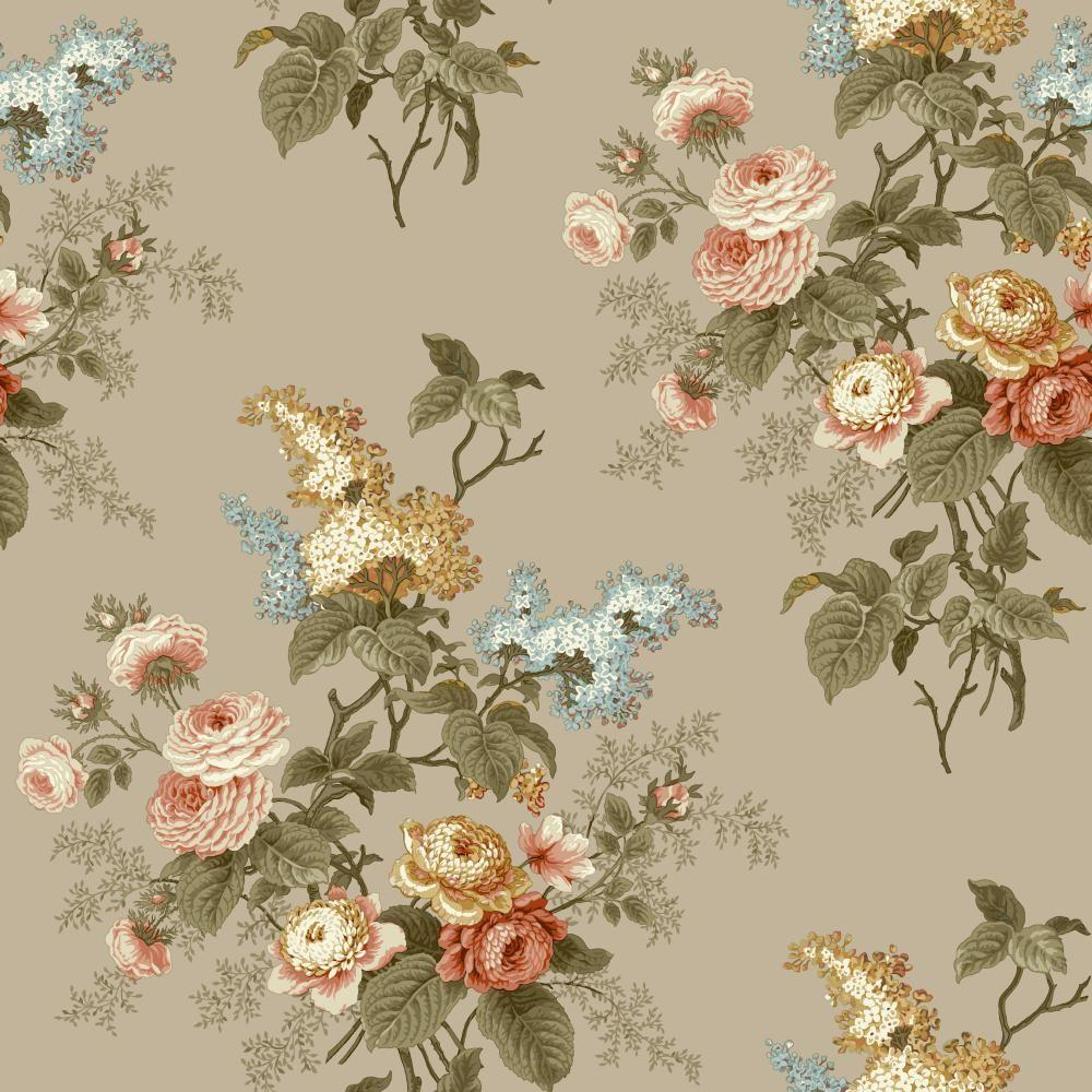 York Wallcoverings Waverly Cottage Emma's Garden Wallpaper