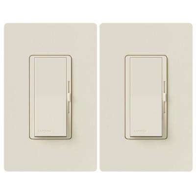 Diva C.L Dimmer Switch for Dimmable LED, Halogen and Incandescent Bulbs, Single-Pole or 3-Way, Light Almond (2-Pack)