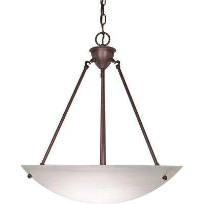 Bertha Glamor 3-Light Old Bronze Pendant